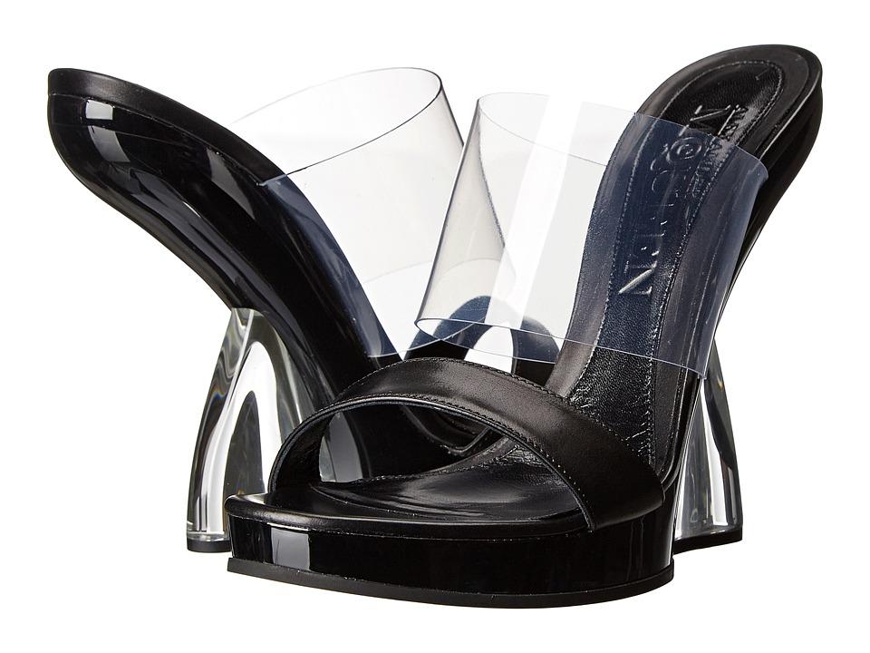 Alexander McQueen - Sandal Plast S. Gomma (Crystal/Black) High Heels