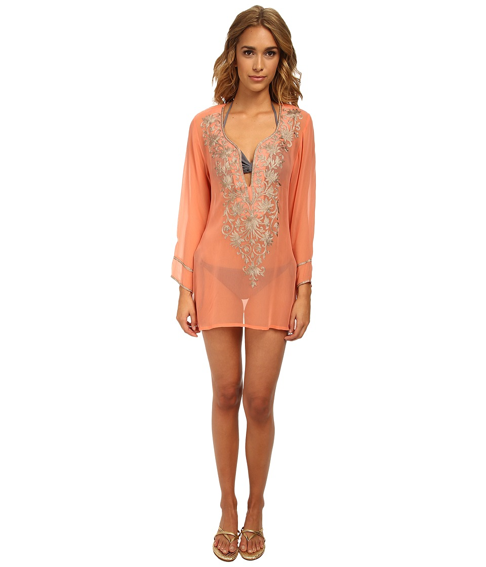 Ella Moss - Cabana Tunic Cover-Up (Tangerine) Women's Swimwear