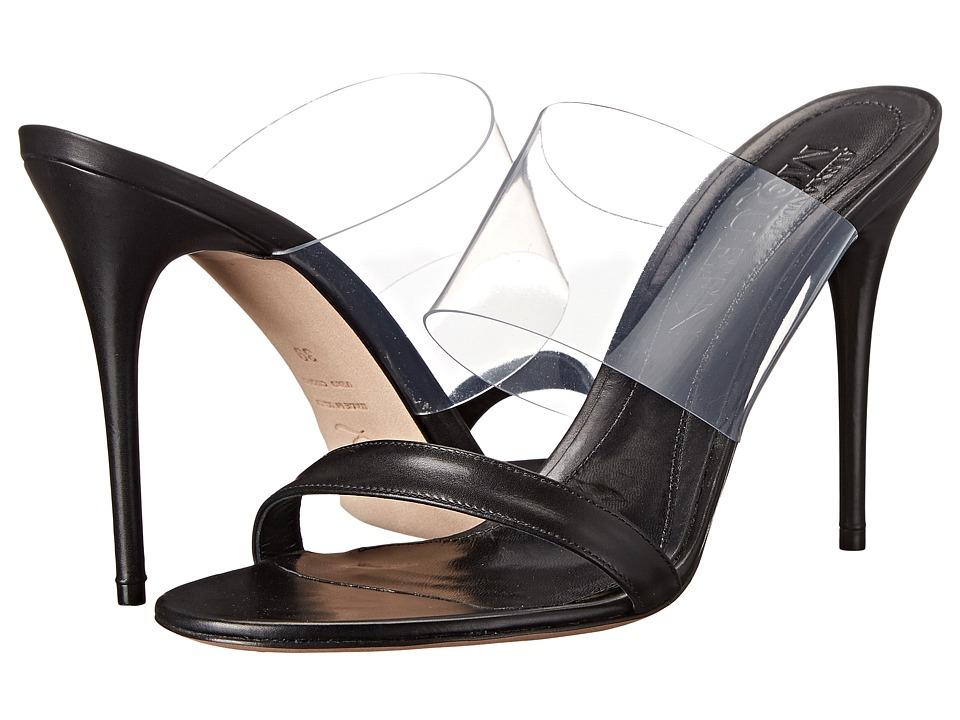 Alexander McQueen - Sandal Plast S. Cuoio (Crystal/Black) High Heels
