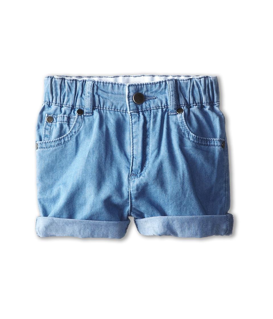Stella McCartney Kids - Blake Baby Chambray Shorts (Infant) (Denim) Girl's Shorts