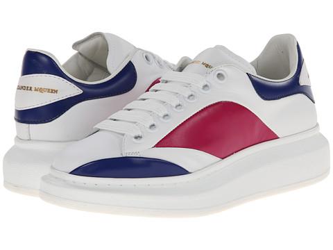 Alexander McQueen - Sneaker Pelle S. Gomm (White/Ultra Marine Blue/Bouganville) Women