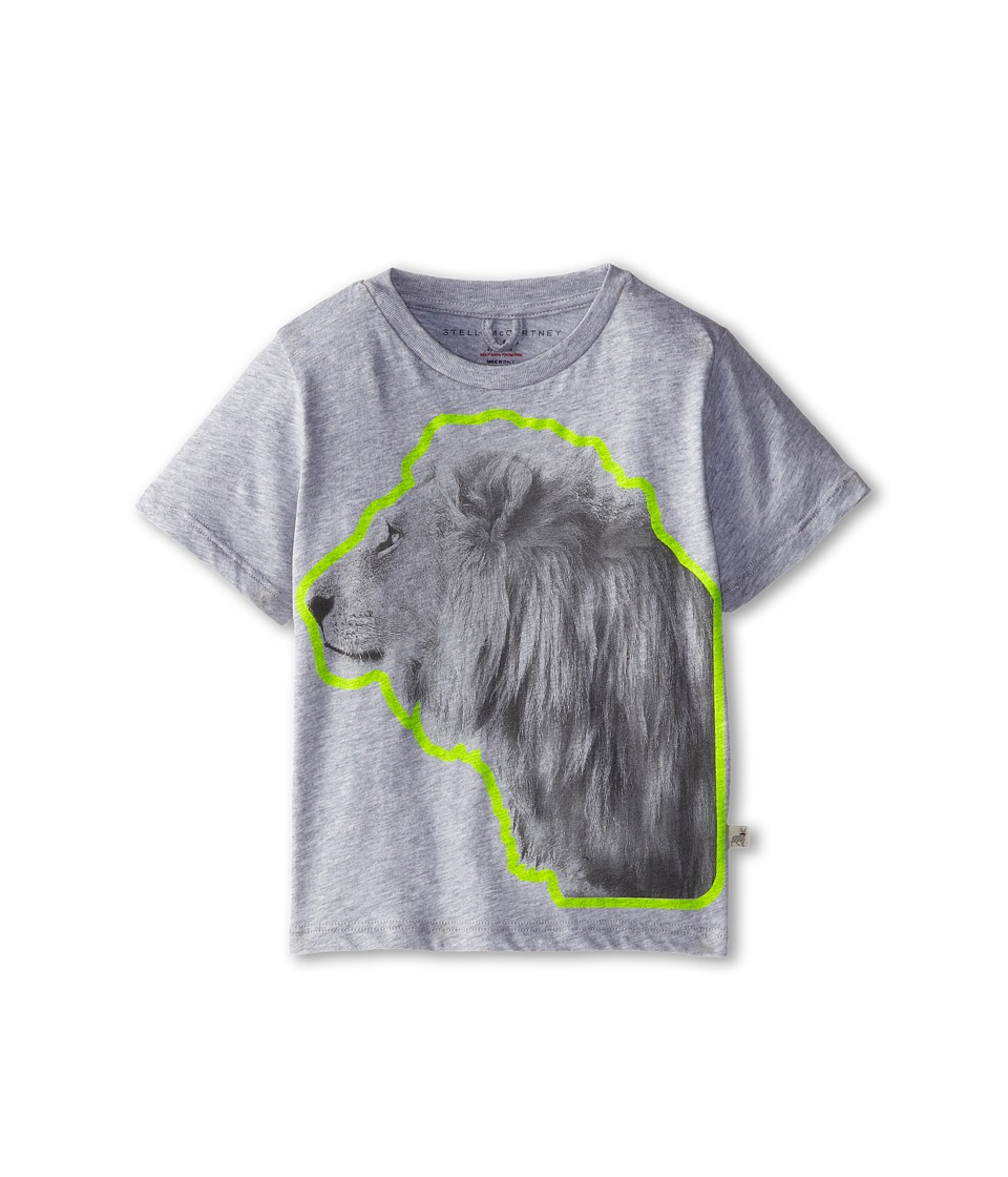 Stella McCartney Kids - Arlo B S/S Lion Graphic Tee (Toddler/Little Kids/Big Kids) (Gray) Boy
