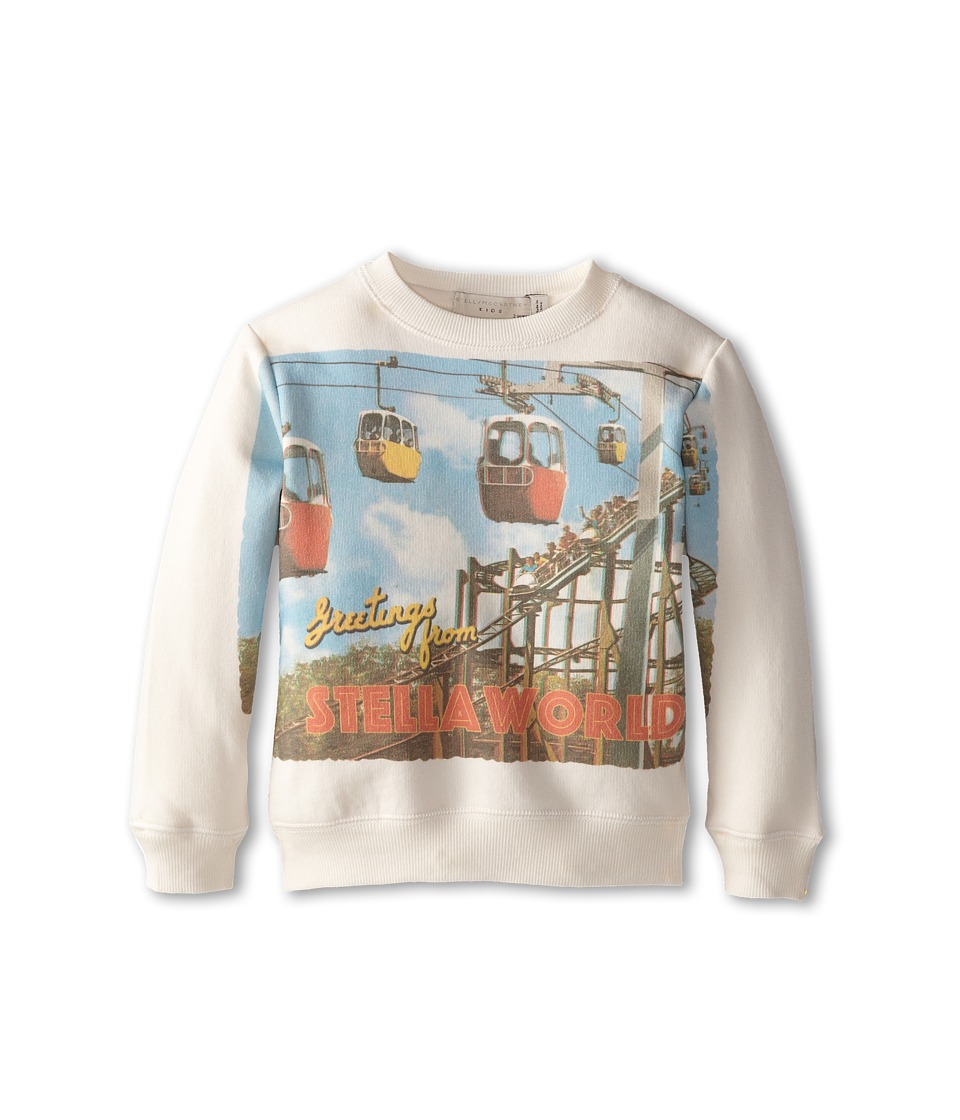 Stella McCartney Kids - Biz Greetings From Stella Crew Neck Sweater (Toddler/Little Kids/Big Kids) (White) Boy's Sweater