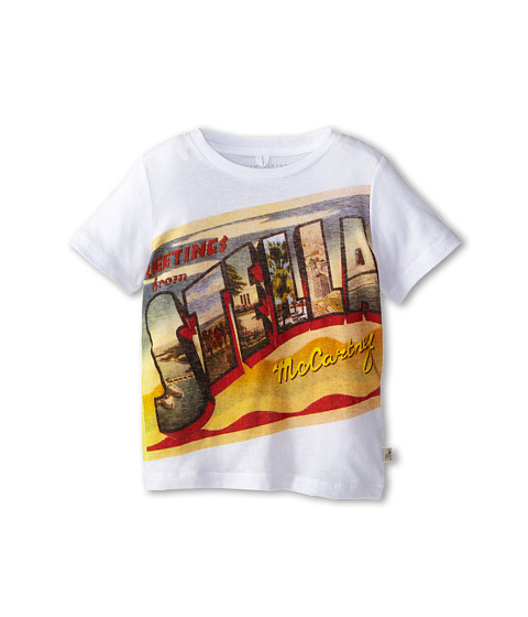 Stella McCartney Kids - Arlo A Greetings From Stella T-Shirt (Toddler/Little Kids/Big Kids) (White) Boy