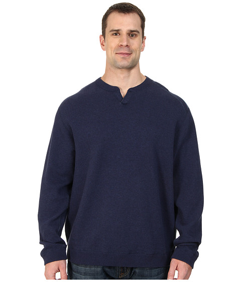 Tommy Bahama Big & Tall - Big Tall New Flip Side Pro Abaco (Blueberry Heather) Men's Sweater