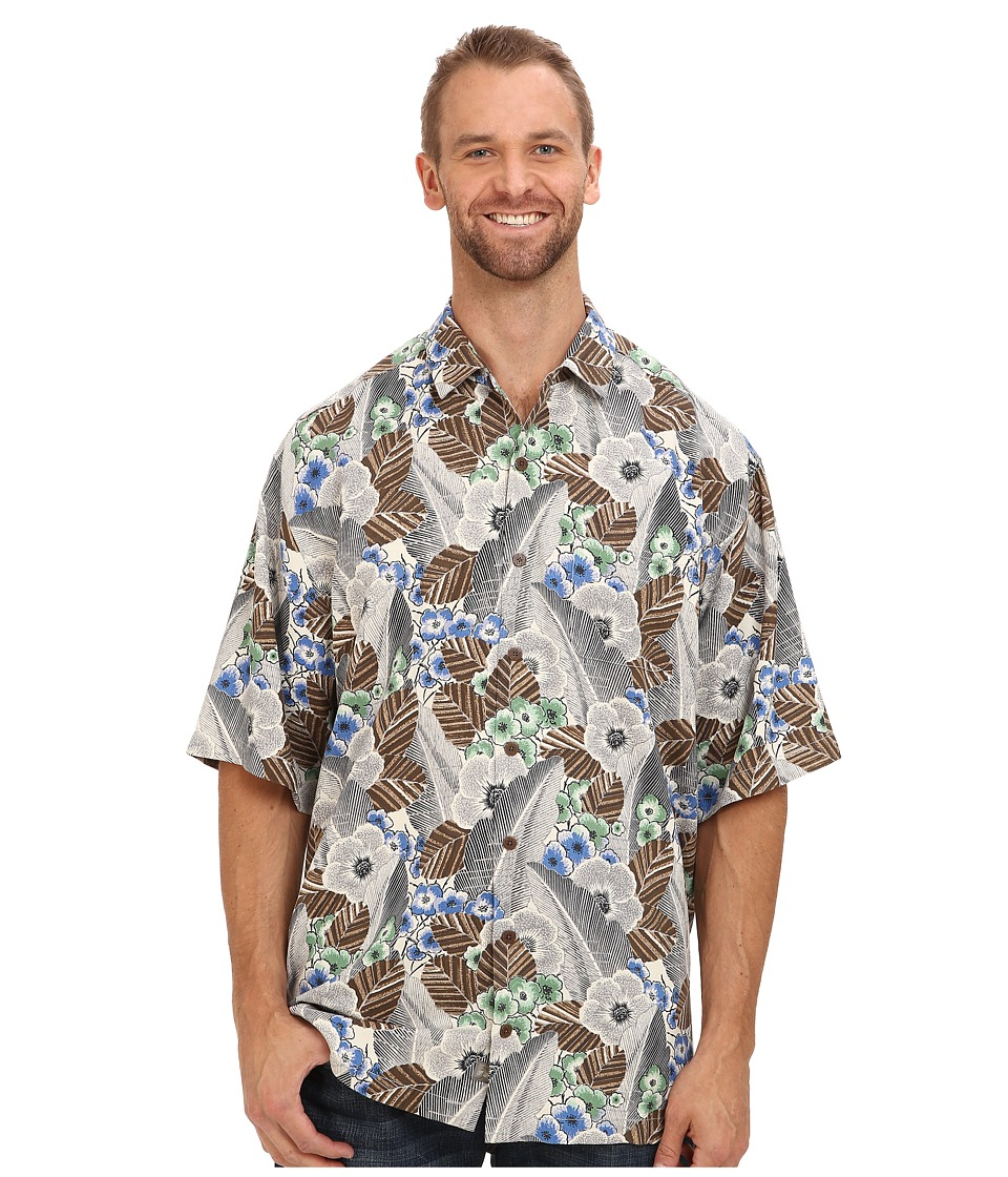 Tommy Bahama Big & Tall - Big Tall AI Deco S/S Camp Shirt (Grey) Men