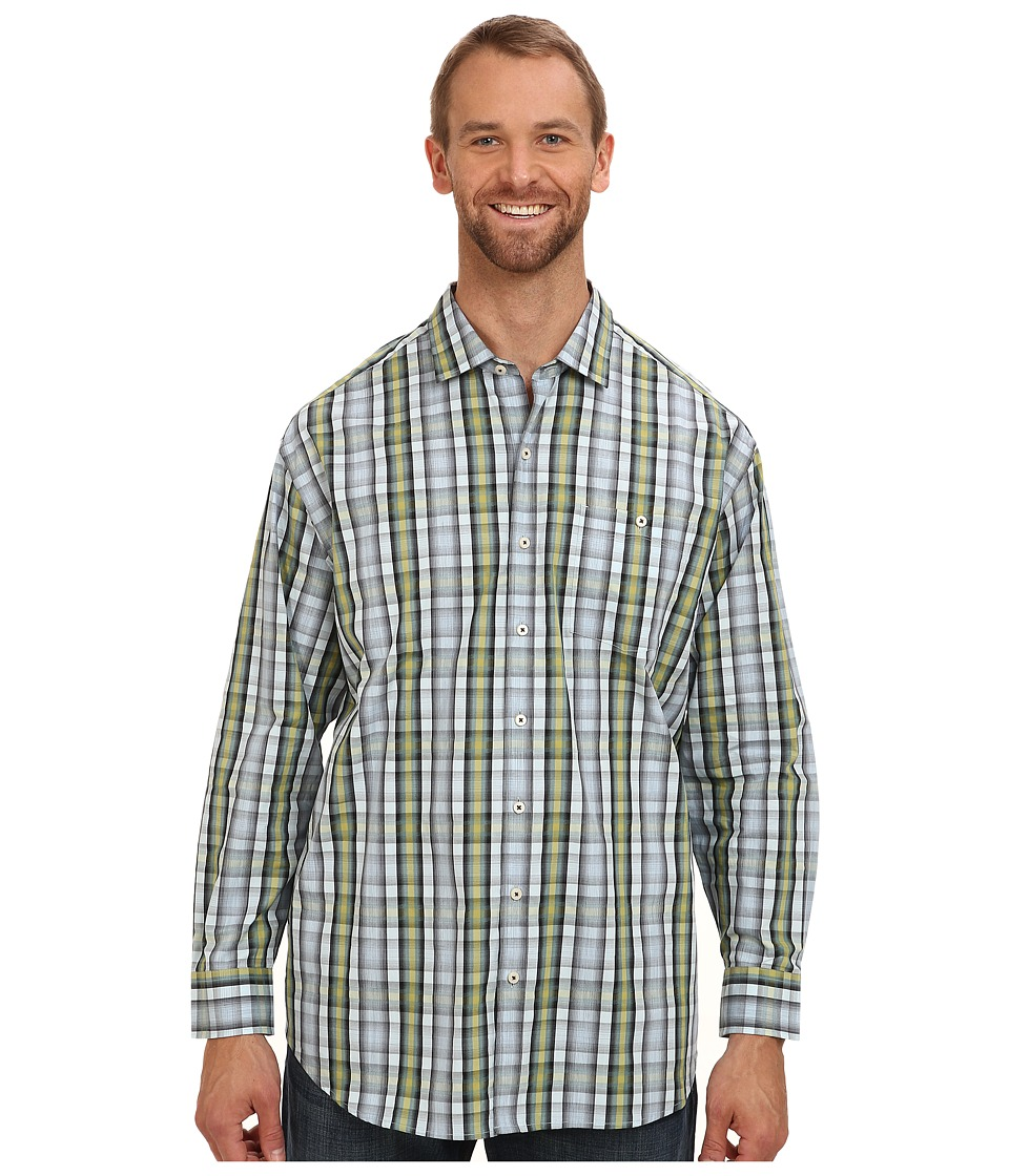 Tommy Bahama Big & Tall - Big Tall Wharf Weft L/S Shirt (Dark Sea) Men's Long Sleeve Button Up