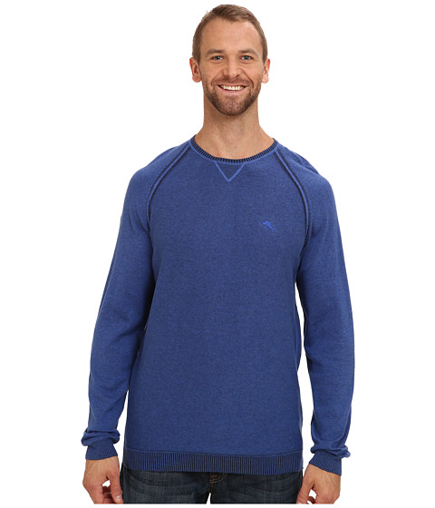 Tommy Bahama Big & Tall - Big Tall Barbados Crew Sweater (Charter) Men's Sweater