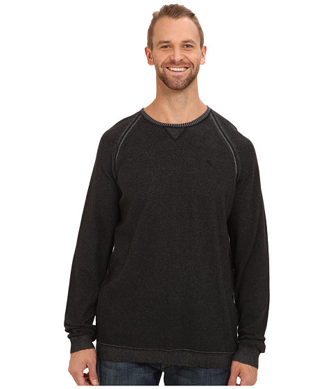 Tommy Bahama Big & Tall - Big Tall Barbados Crew Sweater (Black) Men's Sweater