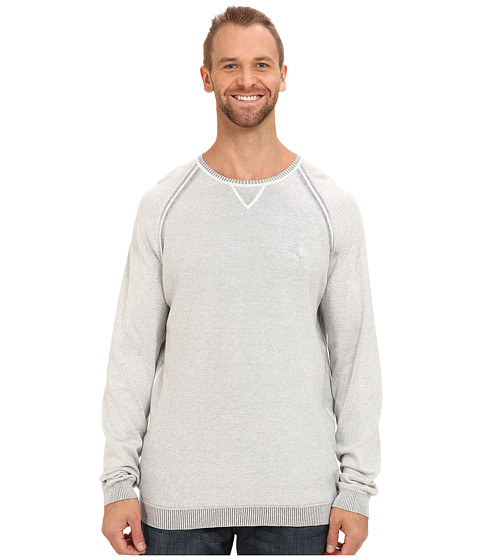 Tommy Bahama Big & Tall - Big Tall Barbados Crew Sweater (Light Grey Heather) Men's Sweater