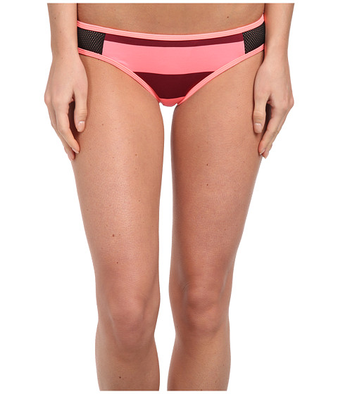 Hurley - Tomboy Stripe Hipster Bottom (Pink) Women's Swimwear