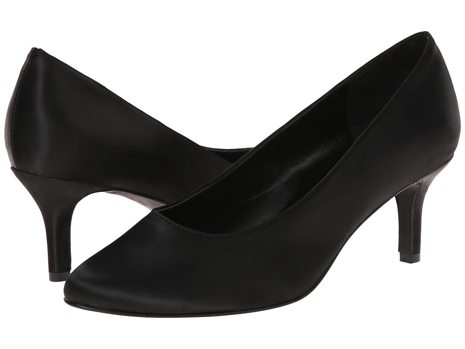 rsvp - Lacina (Black Satin) Women's Sling Back Shoes