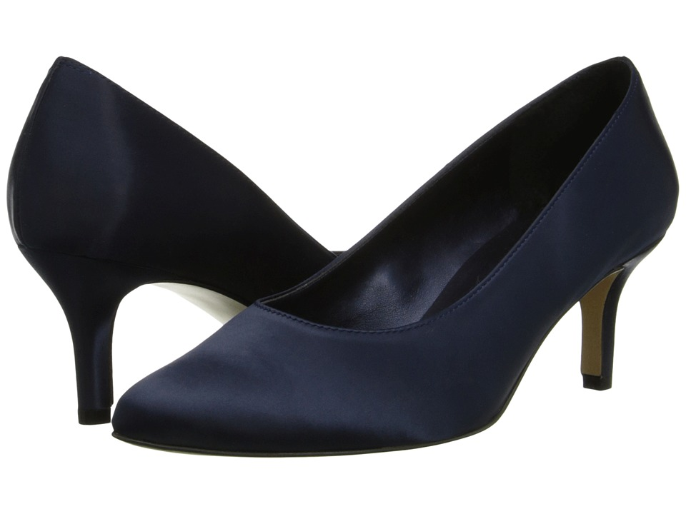 rsvp - Lacina (Navy Satin) Women's Sling Back Shoes