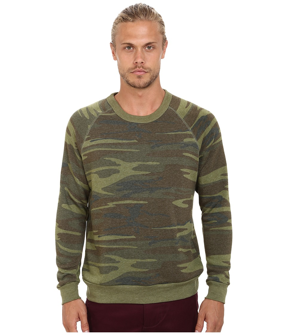 Alternative - Printed Champ Eco Fleece Sweatshirt (Camo) Men's Sweatshirt