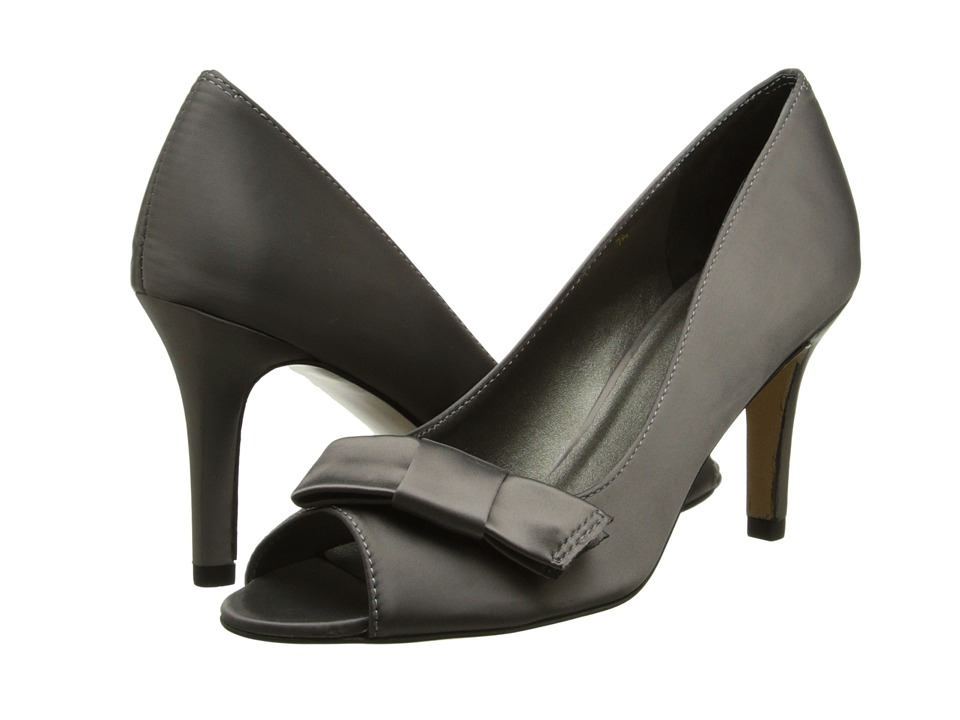 rsvp - Pensee (Pewter Satin) Women's Toe Open Shoes