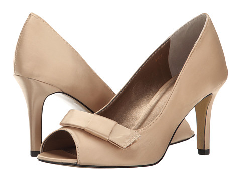 rsvp - Pensee (Champagne Satin) Women's Toe Open Shoes