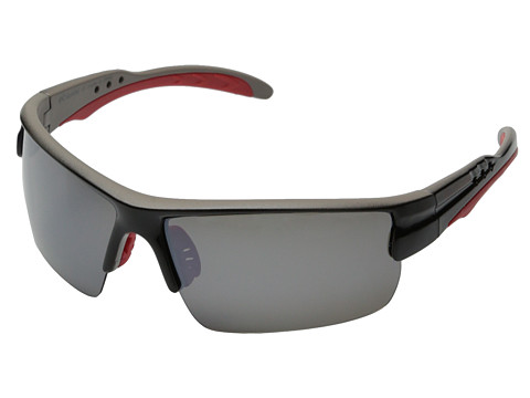 Columbia - 903 (Shiny Black/Grey Flash Polarized) Sport Sunglasses