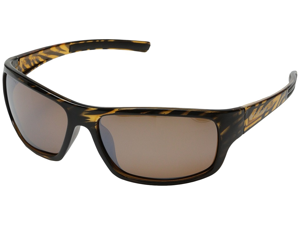 Columbia - 502 (Stripe Tortoise/Brown Flash Polarized) Sport Sunglasses