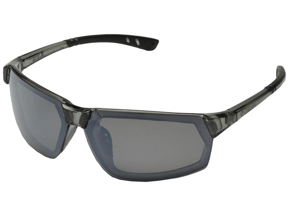 Columbia - 202 (Crystal Grey/Grey Flash Polarized) Sport Sunglasses