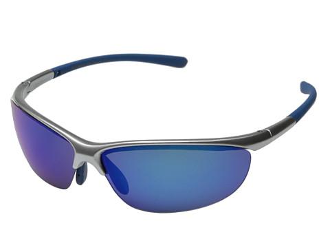 Columbia - 602 (Matte Silver/Blue Flash Polarized) Sport Sunglasses