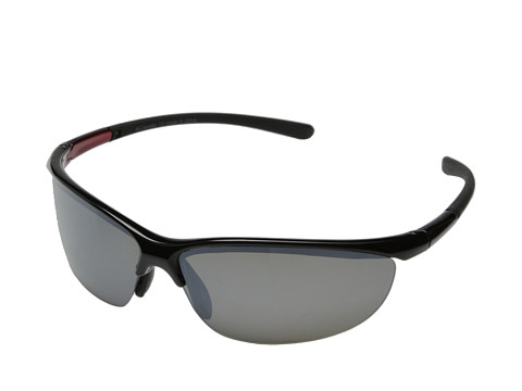 Columbia - 602 (Shiny Black/Grey Flash Polarized) Sport Sunglasses