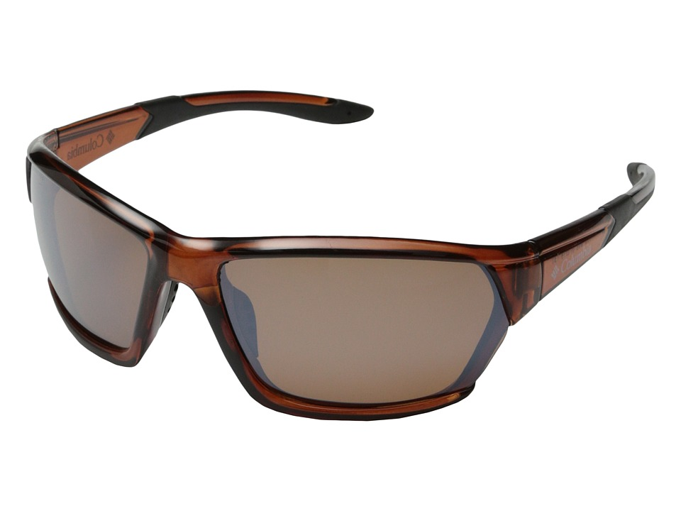 Columbia - 302 (Crystal Brown/Brown Flash Polarized) Sport Sunglasses