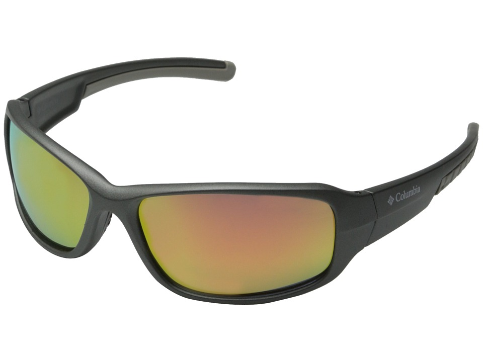 Columbia - 802 (Matte Gunmetal/Sunset Flash Polarized) Sport Sunglasses