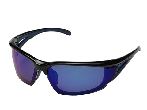 Columbia - 402 (Shiny Black/Blue Flash Polarized) Sport Sunglasses