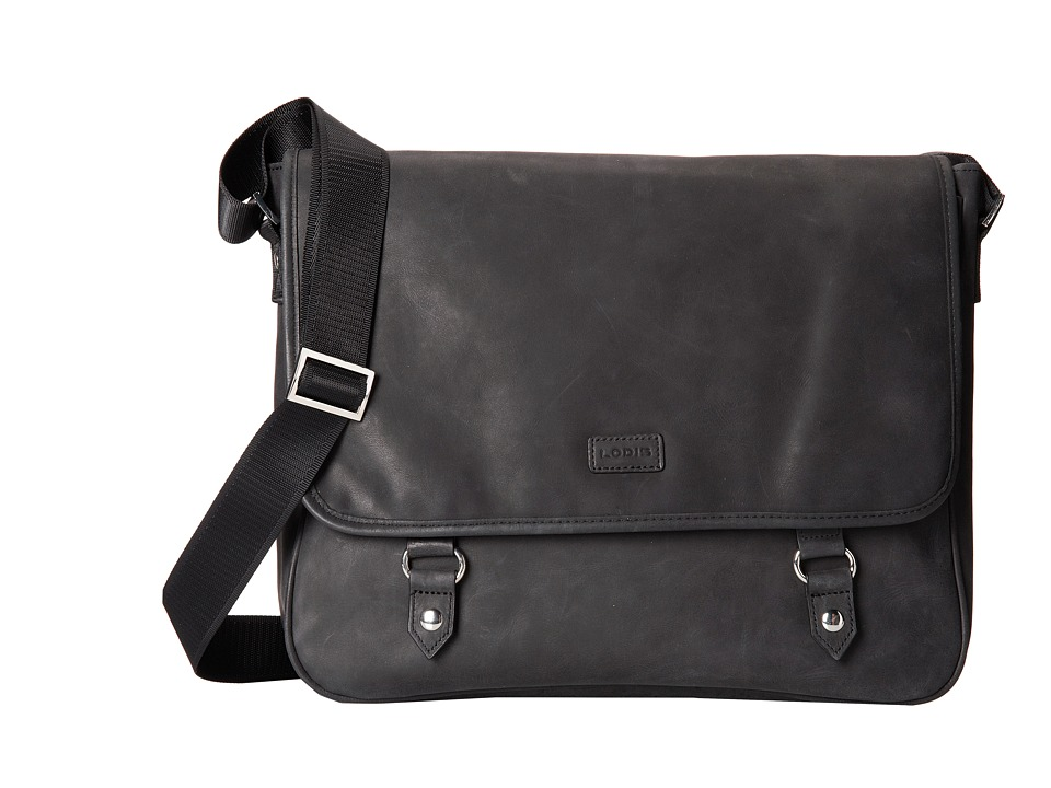 Lodis Accessories - Hunter Messenger Bag (Black) Messenger Bags