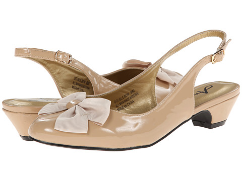 Annie - Double Bow (Nude) Women's Sling Back Shoes
