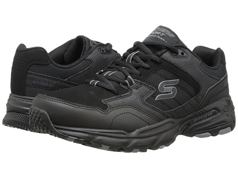 SKECHERS - Stamina Plus (Black) Men's Shoes