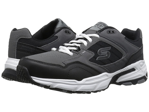 SKECHERS - Stamina Plus (Charcoal/Black) Men's Shoes