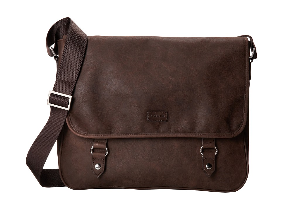 Lodis Accessories - Hunter Messenger Bag (Brown) Messenger Bags