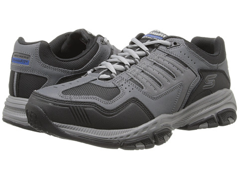 SKECHERS - Cross Court TR (Charcoal/Black) Men's Shoes