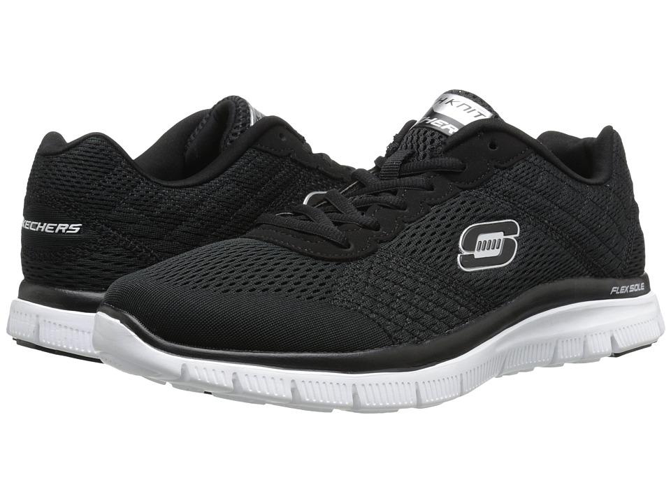 SKECHERS - Flex Advantage Covert Action (Black/White) Men's Lace up casual Shoes