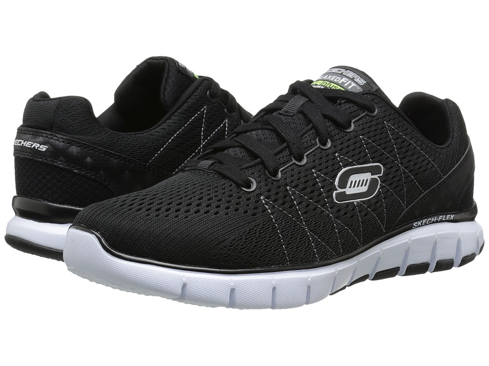 SKECHERS - Skech-Flex (Black/White) Men's Running Shoes