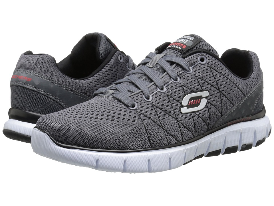 SKECHERS - Skech-Flex (Charcoal/Black) Men's Running Shoes