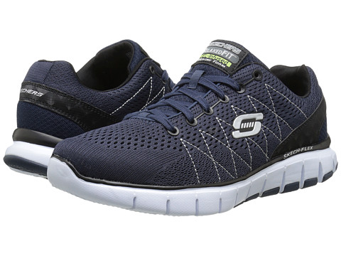 SKECHERS - Skech-Flex (Navy) Men's Running Shoes