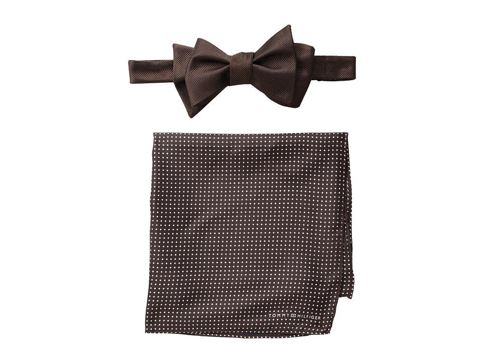 Tommy Hilfiger - Solid Pindot Set (Brown) Ties