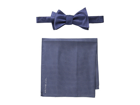 Tommy Hilfiger - Solid Pindot Set (Navy) Ties