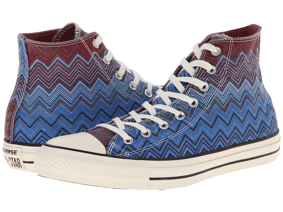 Converse Chuck Taylor All Star Hi Missoni Washed Canvas (Ocean/Casino) Athletic Shoes