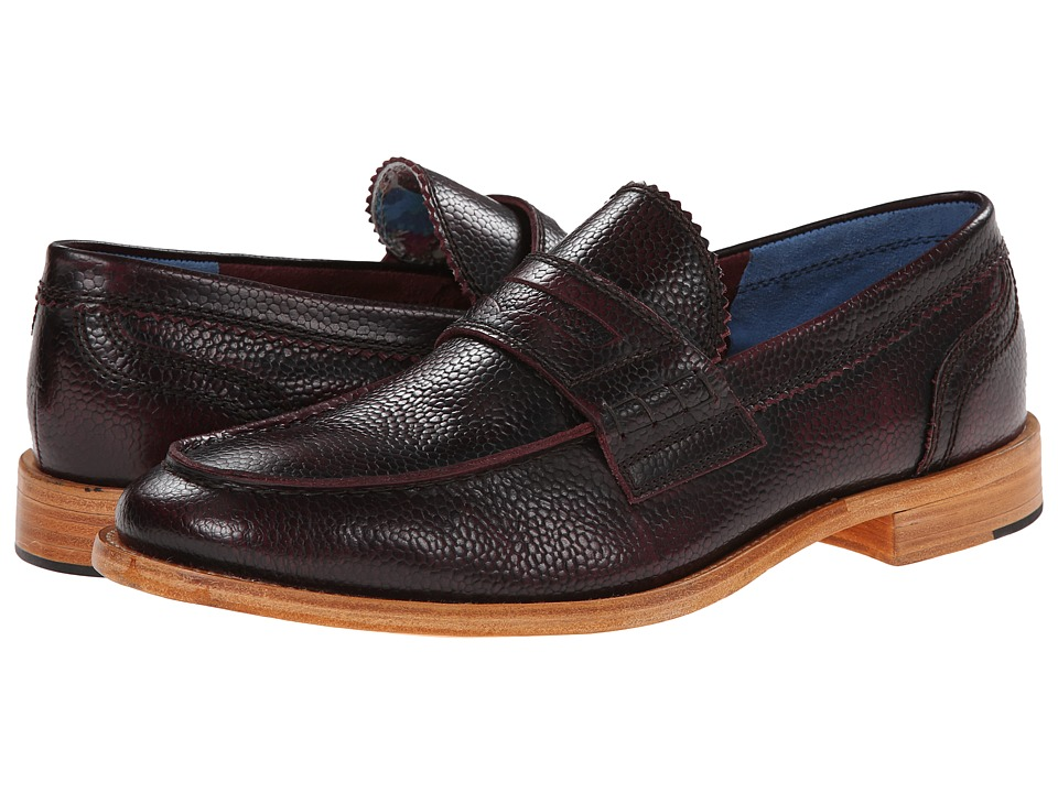 Robert Graham - Worth (Bordo) Men's Slip on Shoes