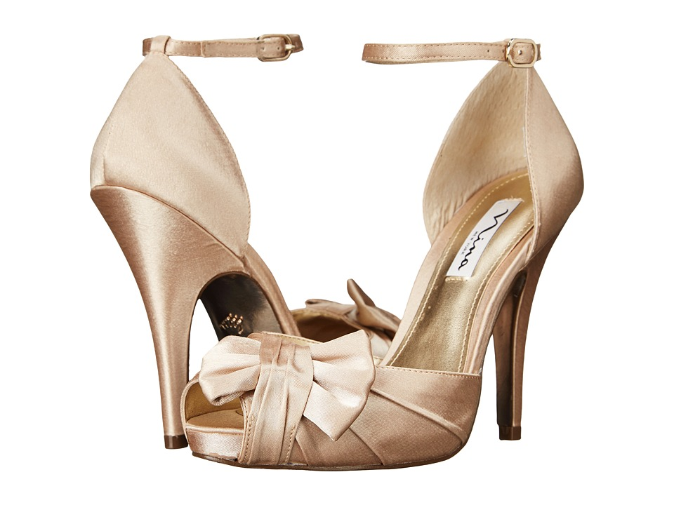 Nina - Ella (Gold Royal Satin) Women's Shoes