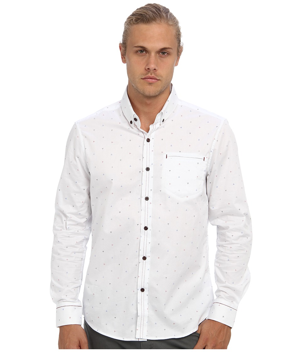 7 Diamonds - Whispering Virtues L/S Shirt (White) Men's Long Sleeve Button Up
