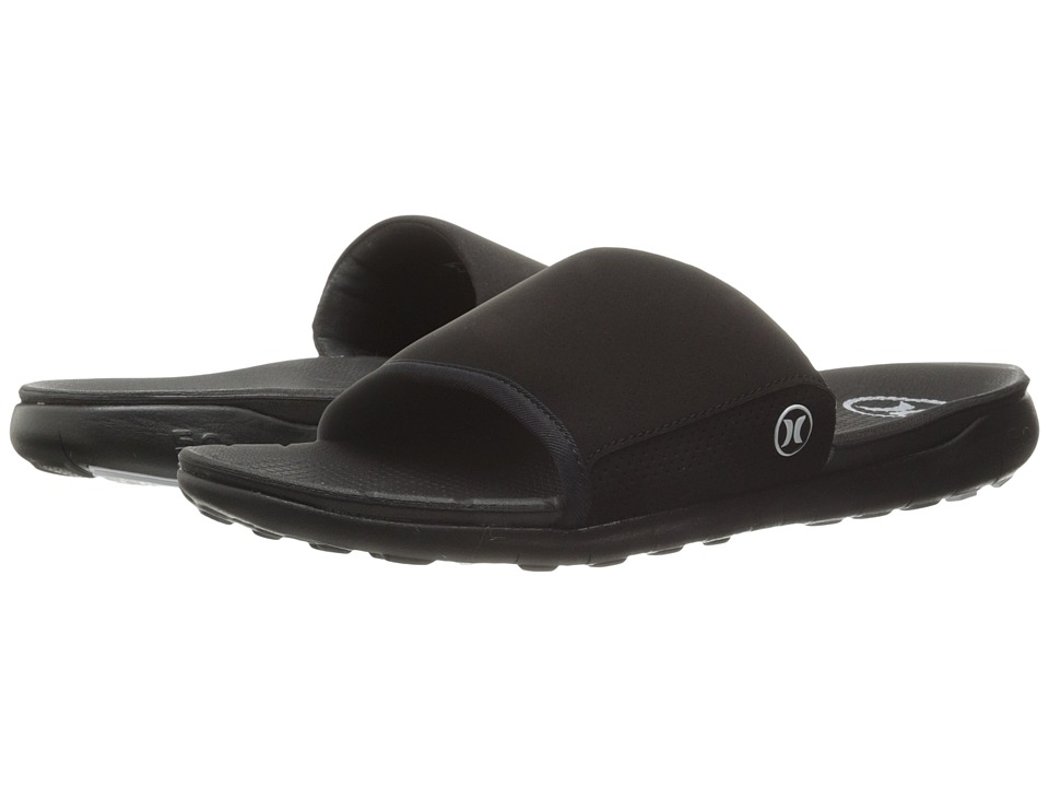 Hurley - Phantom Free Slide Sandal (Black) Men