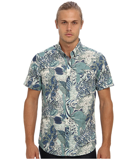 7 Diamonds - Beautiful World S/S Shirt (Mint) Men's Long Sleeve Button Up
