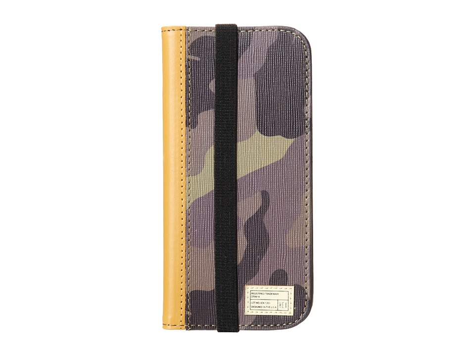 Hex - Icon Wallet For Cell Phone (Camo Leather) Cell Phone Case