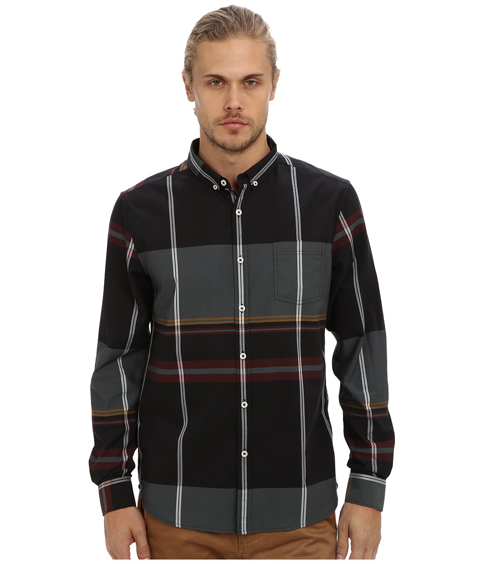 7 Diamonds - Ashford L/S Shirt (Black) Men
