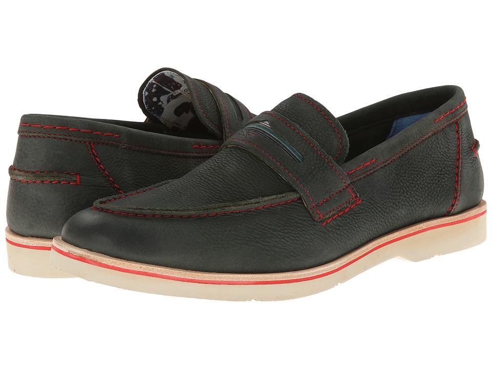 Robert Graham - Gansevoort (Military Nubuck) Men's Slip on Shoes
