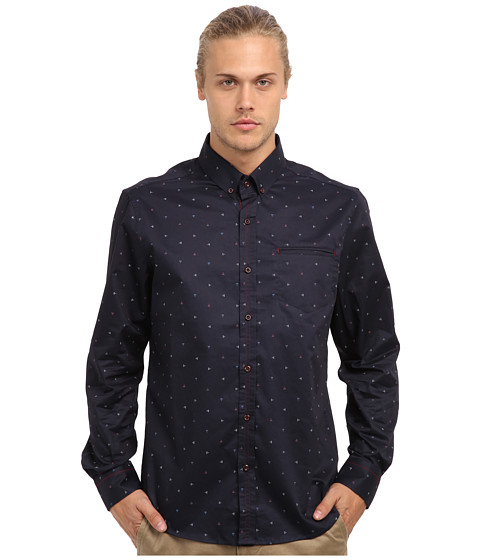 7 Diamonds - Sweet Machine L/S Shirt (Navy) Men's Long Sleeve Button Up